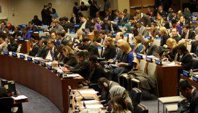 Erster Ausschuss der UN-Vollversammlung am 27.10.17 vor der Abstimmung der Resolution L.41. Foto: Xanthe Hall