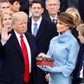 US-Präsident Donald Trump nimmt das Eid, Washington D.C. am 20. Januar 2017. Foto: White House / gemeinfrei