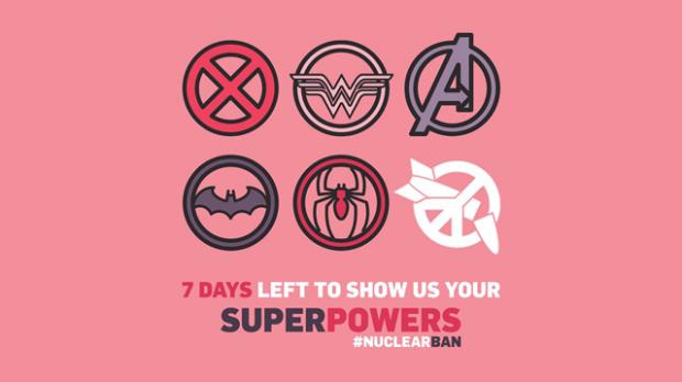 Nur noch sieben Tage, um Eure Superkräfte zu zeigen. Grafik: ICAN