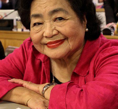 Hiroshima-Überlebende Setsuko Thurlow bei den UN-Verhandlungen in New York