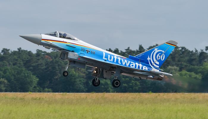 Eurofighter Typhoon EF2000 der deutschen Luftwaffe. Foto: Julian Herzog, CC 4.0