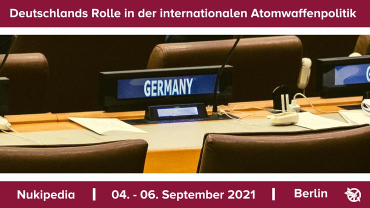 Grafik mit leerem Stuhl an Deutschlands Position im UN-Saal.